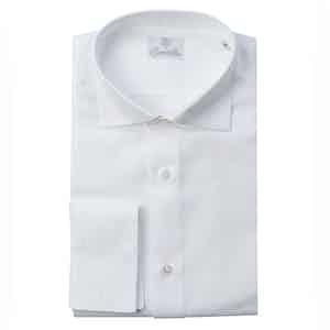 White Twisted Cotton Oxford Shirt