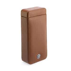 Tan Grained Calf Leather Single Watch Slipcase