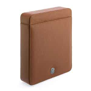 Tan Grained Calf Leather Double Watch Slipcase