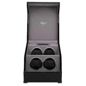 Black Lacquered Composite Wood Perpetua III Quad Watch Winder