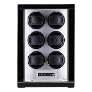 Black Lacquered Composite Wood Formula 6-Watch Winder