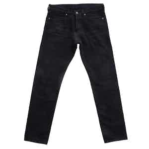 Black Cotton 12.50z Japanese Selvedge Denim Jeans