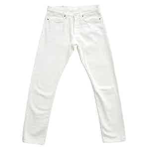White 11.6oz Cotton Japanese Selvedge Denim Jeans