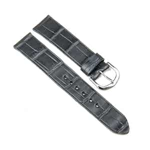 Grey Double Alligator Classic Watch Strap