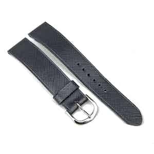Grey Saffiano Calfskin Classic Watch Strap