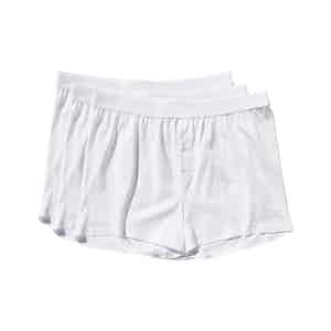 White Lyocell Boxer Shorts 3-Pack