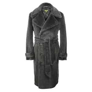 Charcoal Teddy Bear Coat