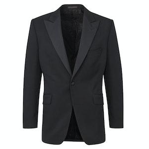 Black Wool Peak Lapel Dinner Jacket