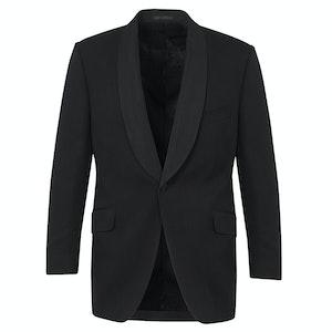 Black Wool Shawl Collar Dinner Jacket