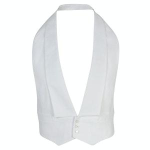 White Cotton Marcella Waistcoat