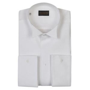 White Cotton Ritz Wing Collar Shirt