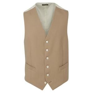 Beige Single-Breasted Morning Waistcoat