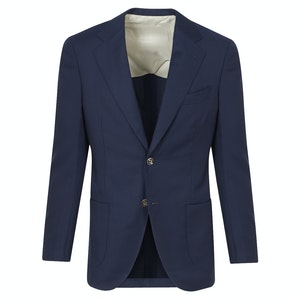Navy Wool Single-Breasted 'Events' Blazer