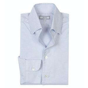 Blue Oxford Stripe Cotton 'Business-Casual Leisure' Shirt