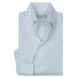 Sky Blue Linen 'Weekend Leisure' Shirt
