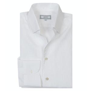 White Cotton & Linen 'Weekend Leisure' Shirt