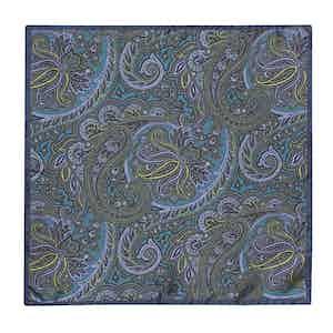Forest Green Silk Paisley Handkerchief