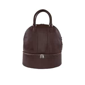 Brown Leather Helmet Bag