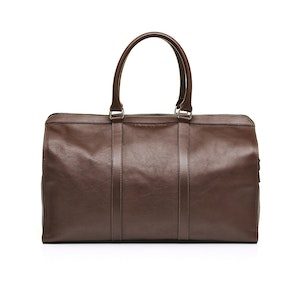 Brown Leather City Holdall