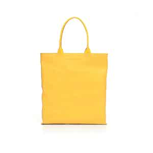 Yellow Leather Travel Tote