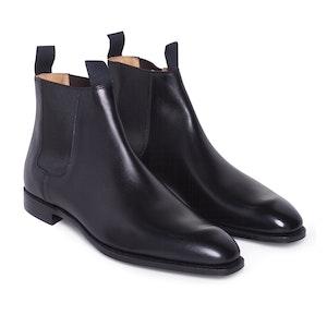 Black Calf Leather Robert Chelsea Boots