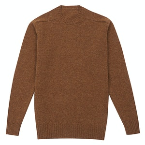 Cinnamon Wool Shetland Sweater