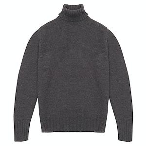 Charcoal Merino Wool Roll Neck Sweater