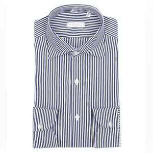 White, Green and Blue Egyptian Cotton Stripe Shirt