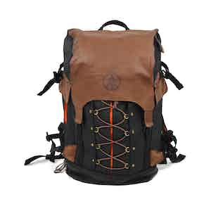 Raven Waxed Canvas and Leather Alpine Rucksack
