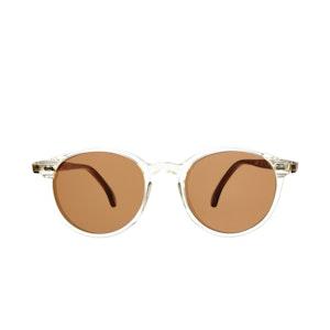 Cran Bi-Colour Acetate Tobacco Lens Sunglasses