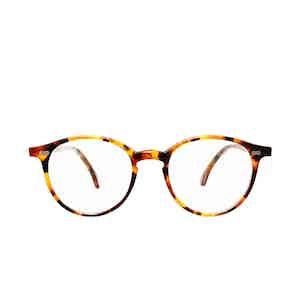 Cran Amber Tortoiseshell Acetate Eyeglasses