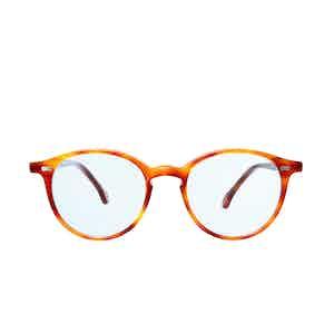 Cran Classic Tortoiseshell Acetate Blue Lens Sunglasses