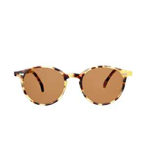 Cran Matte Light Tortoiseshell Acetate Tobacco Lens Sunglasses