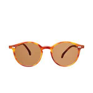 Cran Matte Classic Tortoiseshell Acetate Tobacco Lens Sunglasses