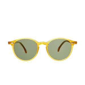 Cran Honey Acetate Bottle green Lens Sunglasses