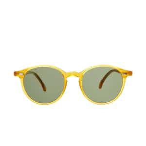Cran Honey Acetate Bottle green Lens Sunglasses