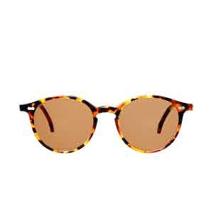 Cran Amber Tortoiseshell Acetate Tobacco Lens Sunglasses