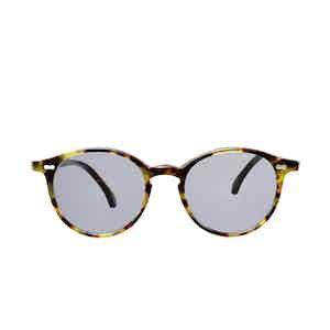 Cran Green Tortoiseshell Acetate Gradient Grey Lens Sunglasses