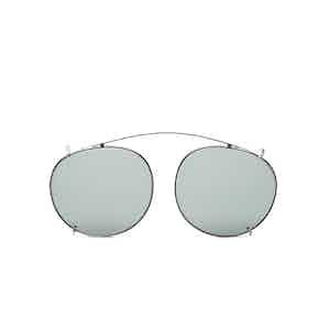 Clip Silver Metal Bottle Green Lens Sunglasses Frames