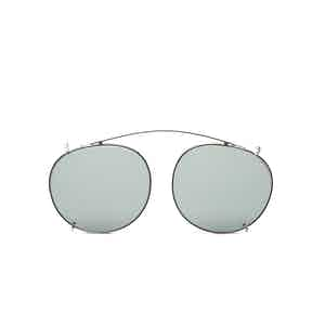 Clip Silver Metal Bottle Green Lens Sunglasses Frames