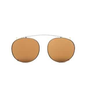 Clip Gold Metal Tobacco Lens Sunglasses Frames