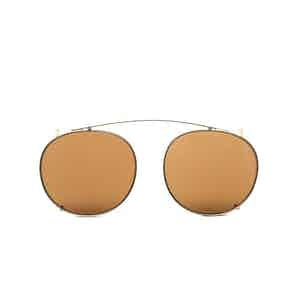 Clip Gold Metal Tobacco Lens Sunglasses Frames