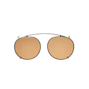 Clip Silver Metal Tobacco Lens Sunglasses Frames