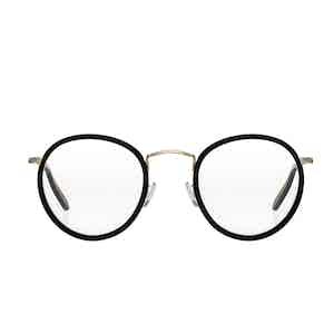 Crossbreed Black Metal and Acetate Eyeglasses