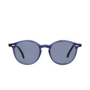Cran Blue Acetate Gradient Grey Lens Sunglasses
