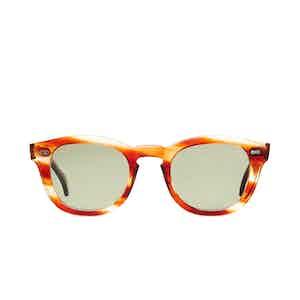 Donegal Havana Acetate Bottle Green Lens Sunglasses