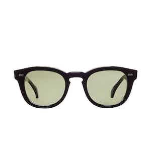 Donegal Black Acetate Bottle Green Lens Sunglasses