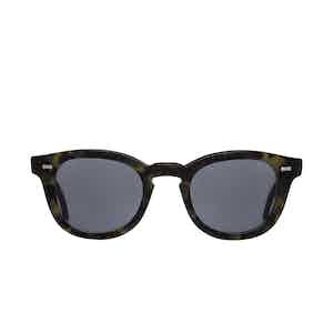 Donegal Green Tortoiseshell Acetate Gradient Grey Lens Sunglasses