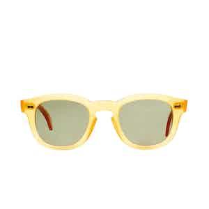 Donegal Honey Acetate Bottle Green Lens Sunglasses
