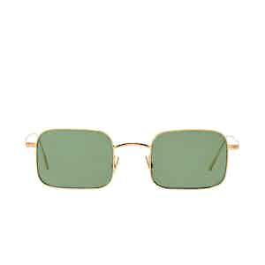 Flare Gold Rhodium Bottle Green Lens Sunglasses